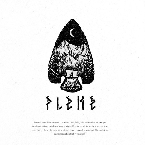 Hand-drawn logo with the title 'Pleme/Tribe'
