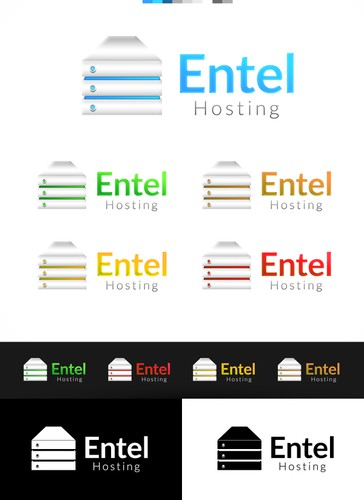 Server logo with the title 'Create a logo for Entel Hosting'