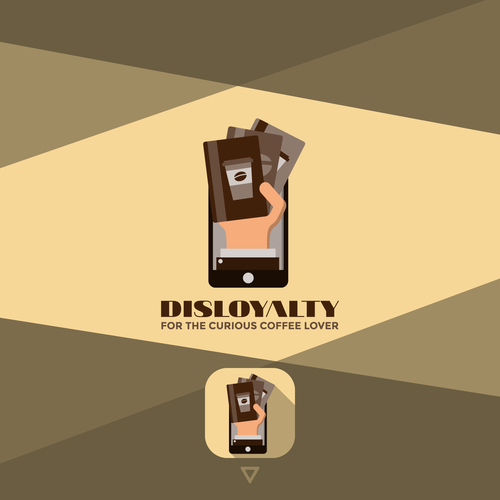Coffee logo with the title 'Coffeeshop Loyalty Card App'