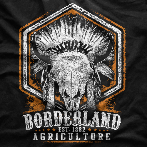 Animal t-shirt with the title 'Bison Agriculture T-Shirt'