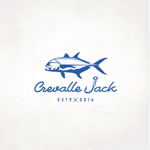 Fish restaurant logo with the title 'Cravalle Jack'