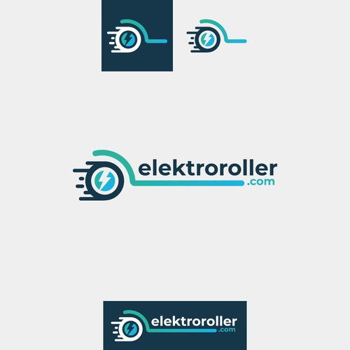 Favicon design with the title 'Logo design for elektroroller.com'