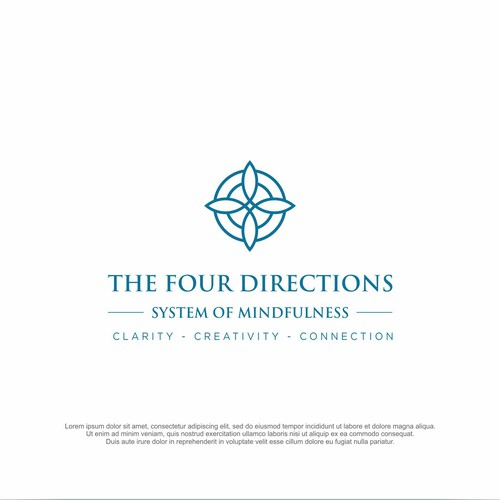 Mindfulness logo with the title 'The Four Directions'