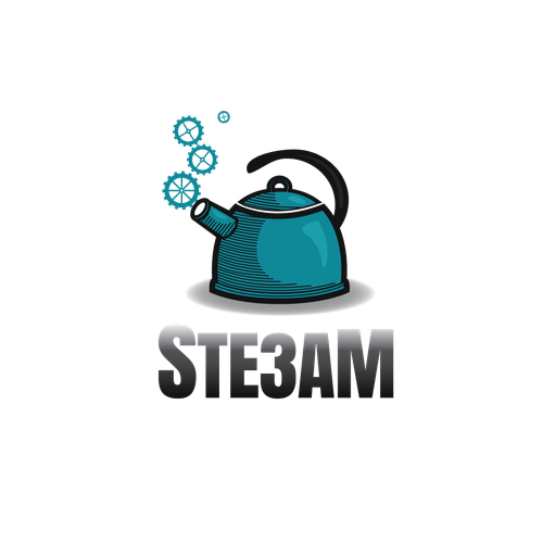 Kettle design with the title 'Logo for 'Ste3am''