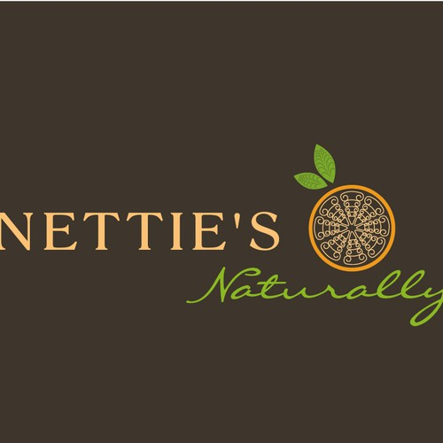 Healthy food logo with the title 'Nettie's  Naturally'