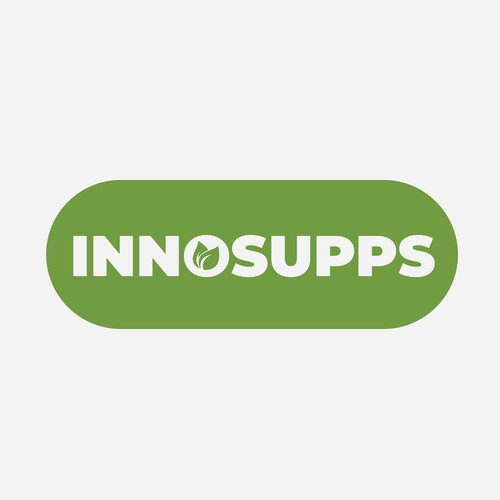 Go green design with the title 'innosups'