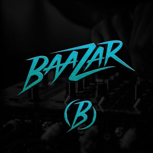 Festival design with the title 'BAAZAR DJ LOGO'