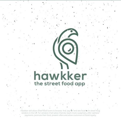 Hawk logo with the title 'Street Food App Logo'