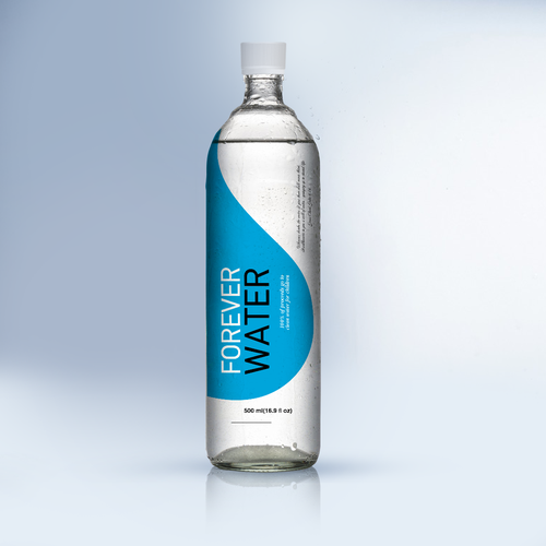"Pure design with the title '""Forever Water"", label design'"