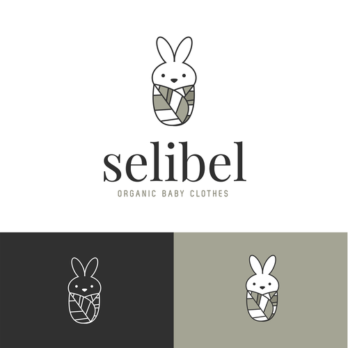 Baby brand with the title 'Selibel Baby Clothes Logo'