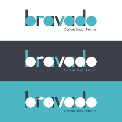 Paint brand with the title 'Bravado Logo Concept'