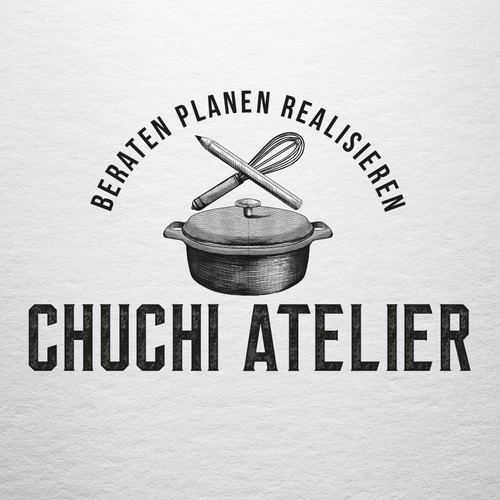 Realistic logo with the title 'CHUCHI ATELIER'