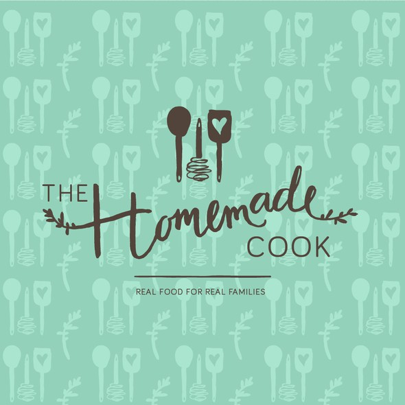 Kitchen logo with the title 'Handdrawn logo for a cook'