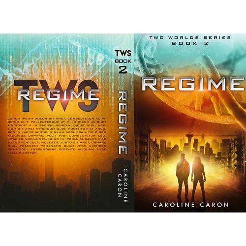 Futuristic book cover with the title 'Regime.'