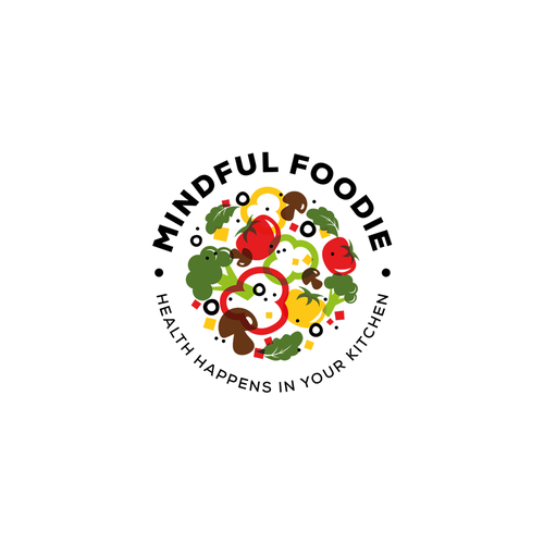 Tomato design with the title 'Logo Mindful foodie'