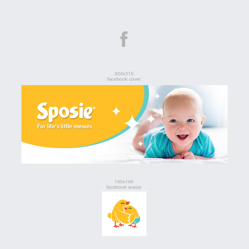 Diaper design with the title 'Sposie'