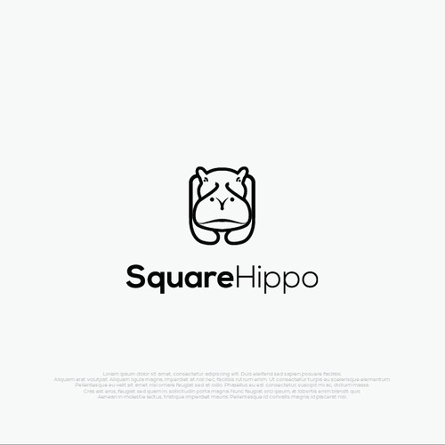 Square logo with the title 'Monoline logo style for SquareHippo'