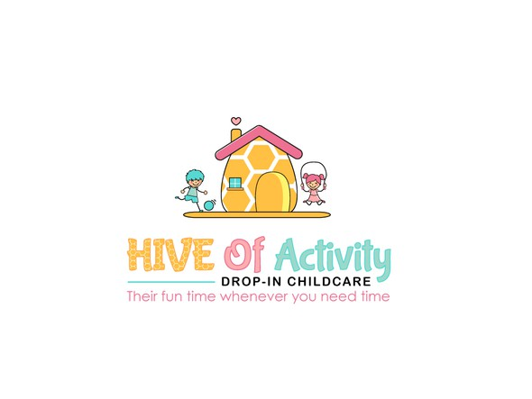 Children artwork with the title 'Hive Of Activity'