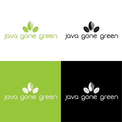 Java design with the title 'Java Gone Green Logo'