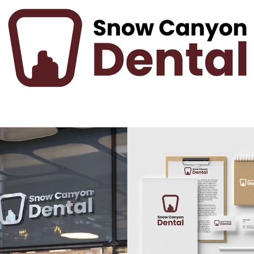 Cliff logo with the title 'Snow Canyon Dental'