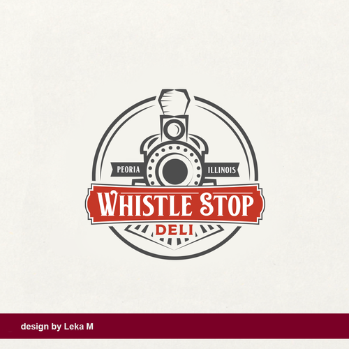 Restaurant logo with the title 'Whistle Stop Deli'