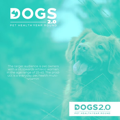 Pet shop design with the title 'Clean Logo Design for Dogs 2.0'