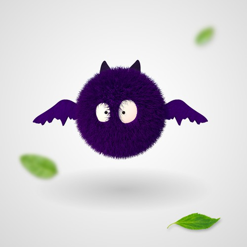 Bat design with the title 'Purple bat'