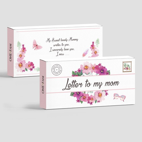 Cosmetics packaging with the title 'logo and box'