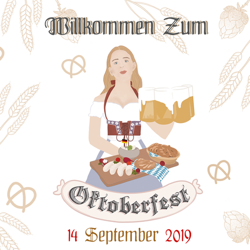 Pretzel design with the title 'Oktoberfest '