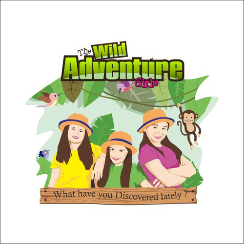 Monkey t-shirt with the title 'wild adventure'
