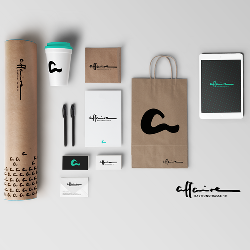 Store design with the title 'Brand Identity for affaire'