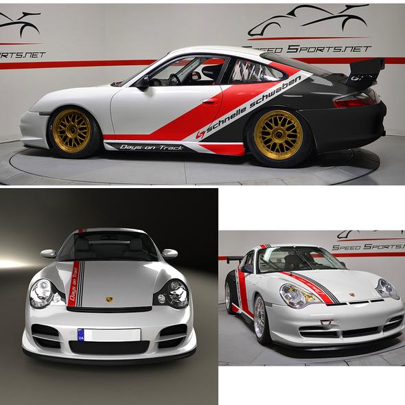 Race car design with the title 'car wrap design'