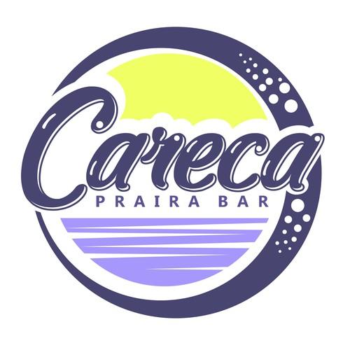Beach bar design with the title 'Beach bar logo'
