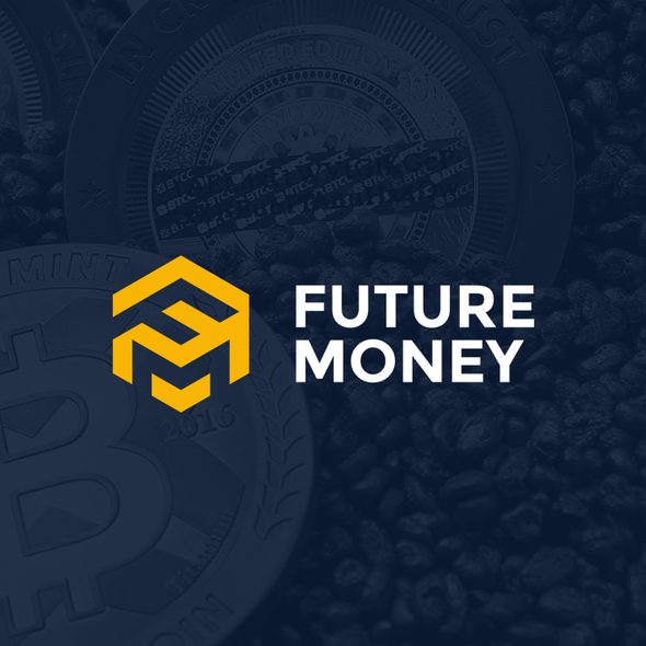 Bitcoin brand with the title 'Blockchain community logo'