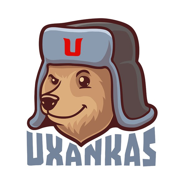 Russian design with the title 'Ushanka'