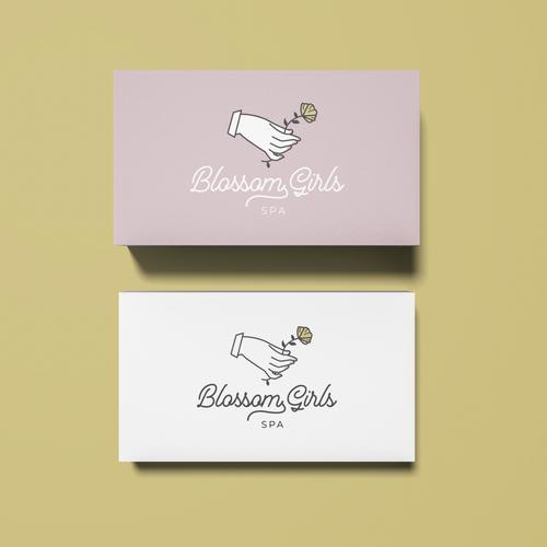 Blossom design with the title 'Feminine Logo for Girls Spa'