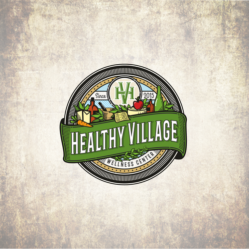 Country design with the title 'vintage logo for Wellness Center'