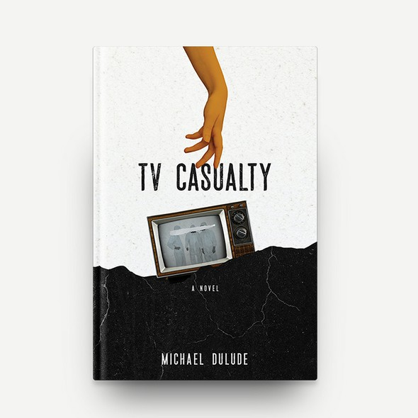 Striking book cover with the title 'TV Casualty Book Cover Design'