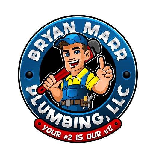 Plumbing logo with the title 'Character Logo for Plumbing Company'