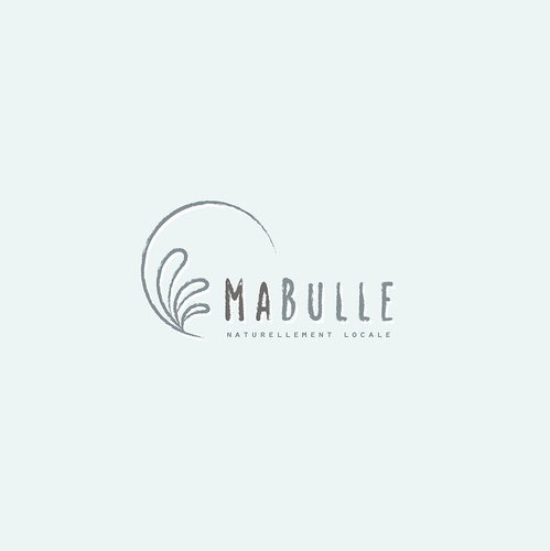 Handmade logo with the title 'Logo concept for MaBulle – handmade soaps'