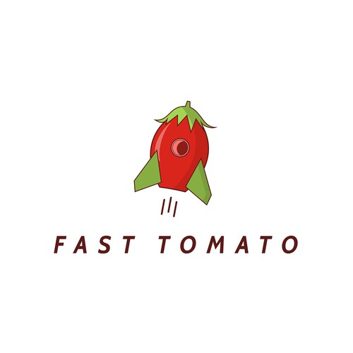 Tomato logo with the title 'Logo for a student career website called Fast Tomato'