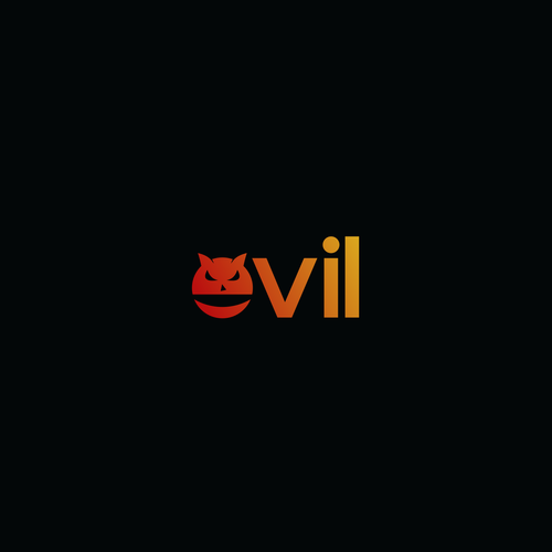 Evil logo with the title 'evil logo type concept'