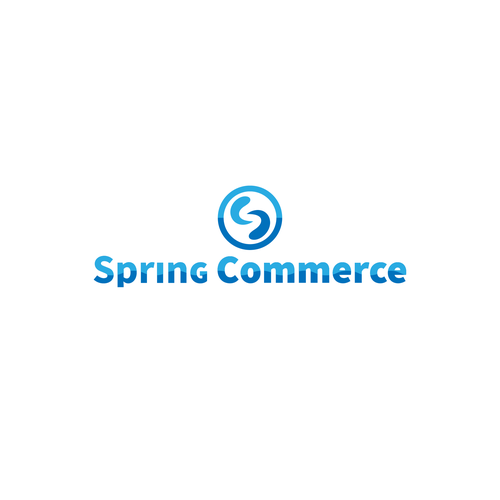 Spring logo with the title 'E comerce logo'