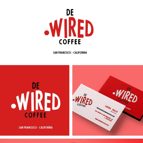 Roaster logo with the title 'de WIRED coffee'