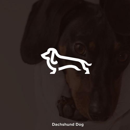 Dachshund logo with the title 'Dachshund Dog Logo'