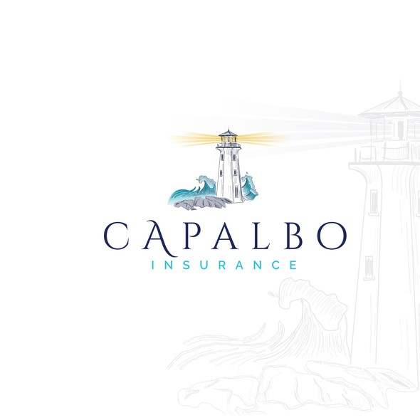 Harbor design with the title 'Capalbo Insurance logo - Unique spin for an old conservative industry'