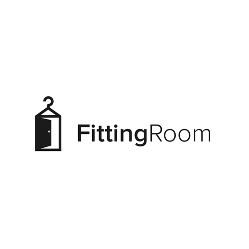 Door design with the title 'Fitting Room'