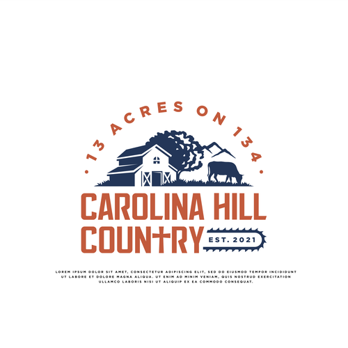 Country logo with the title 'Country Farm Logo'