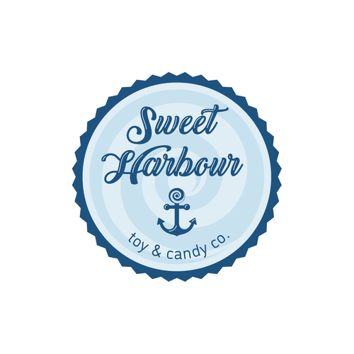 Candy store logo with the title 'Nautical logo for a candy store'