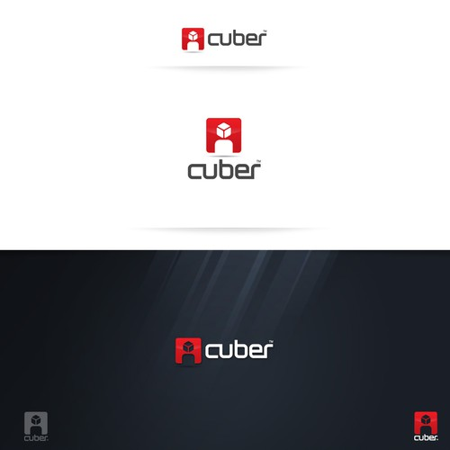 Community logo with the title 'Cuber logo design'